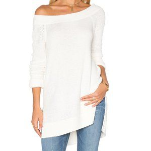 Free People Kate White XS Soft Thermal Long Sleeve
